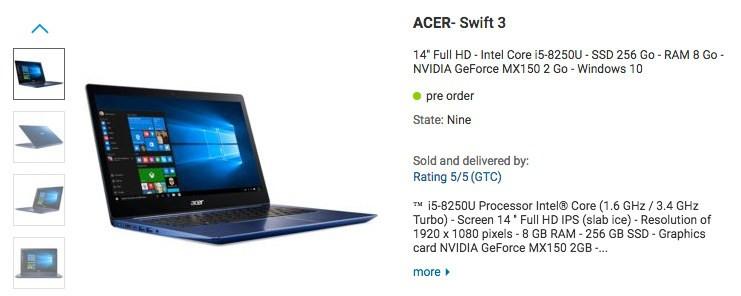 AcerSwift 3 es el primer Ultrabook con procesador de cuatro núcleos