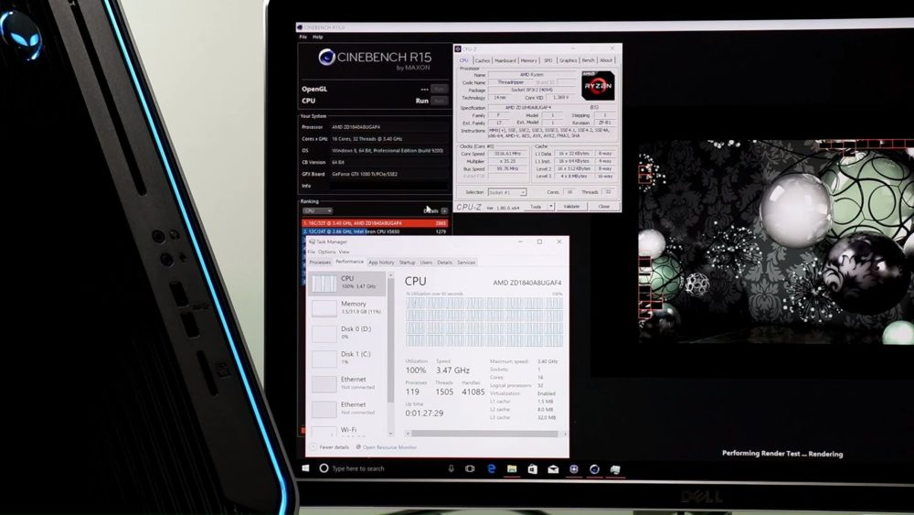 Alienware Area-51 con Ryzen Threadripper 1950X