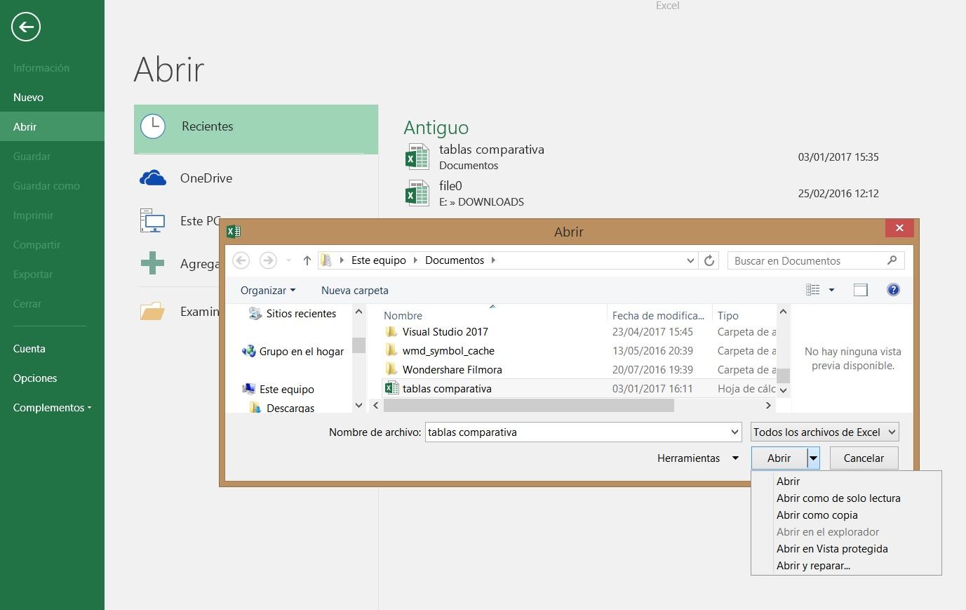 Cómo abrir un archivo de Excel dañado