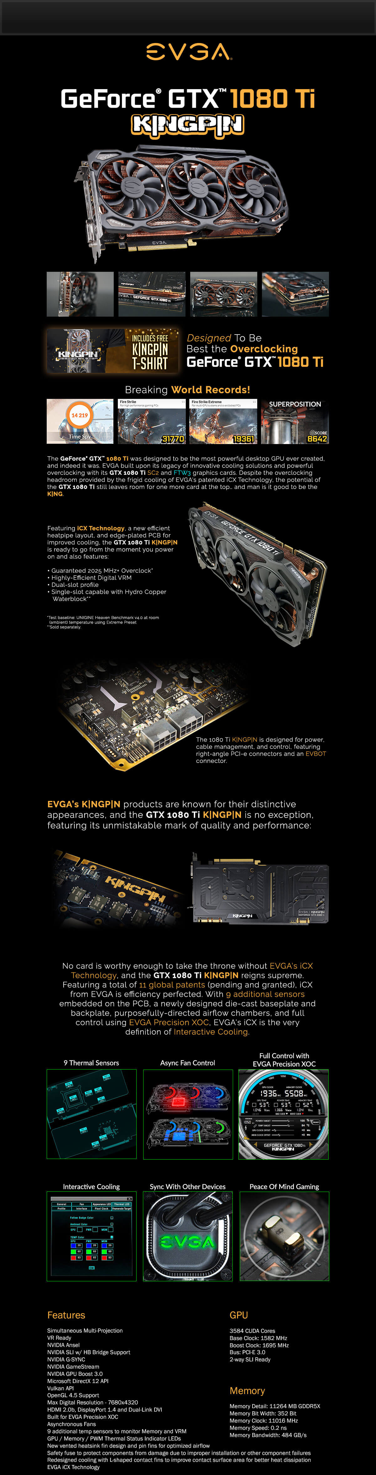 EVGA GeForce GTX 1080 Ti K|NGP|N