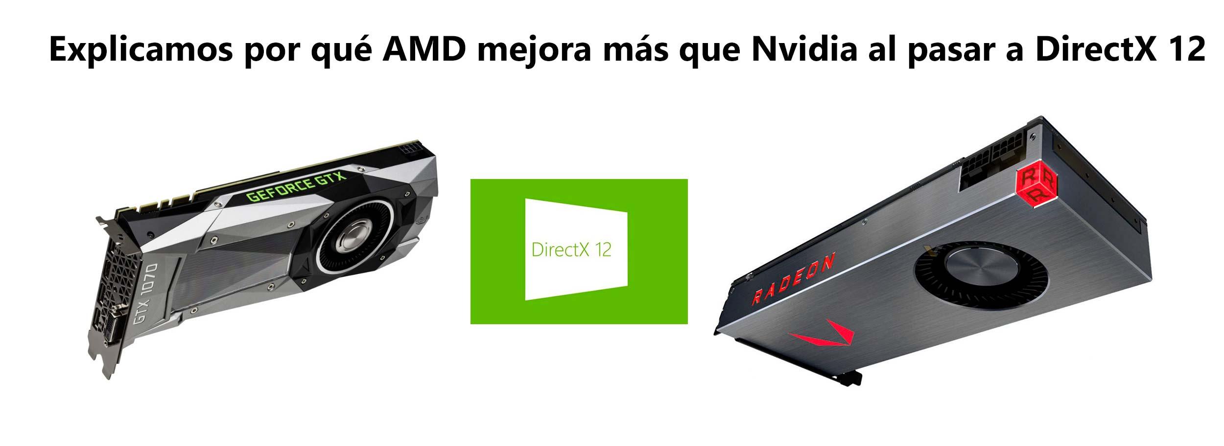 Explicamos por qué AMD mejora más que Nvidia al pasar a