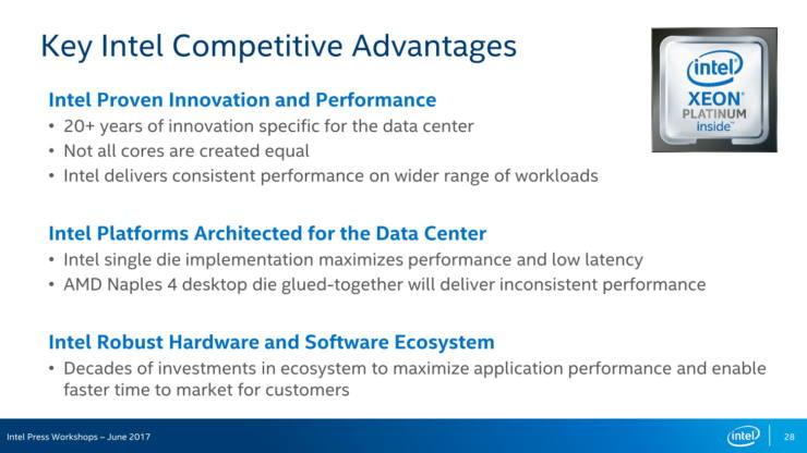 Intel menosprecia AMD EPYC