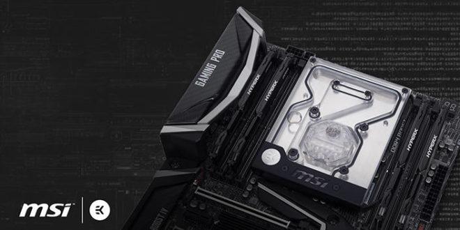 EK lanza su monobloque de agua para la MSI X299 Gaming Pro
