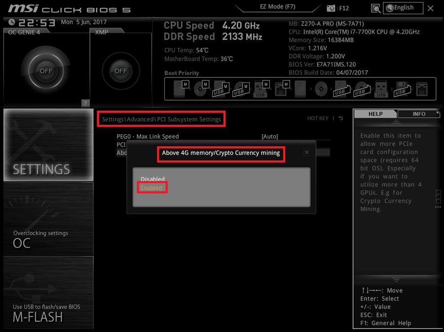 MSI ya dispone de BIOS especiales para minar con 6 tarjetas