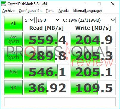 ECS Liva Z Plus crystaldiskmark