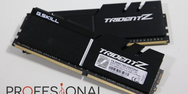 G.Skill Trident Z DDR4 3600 MHz Review en Español (Análisis completo)