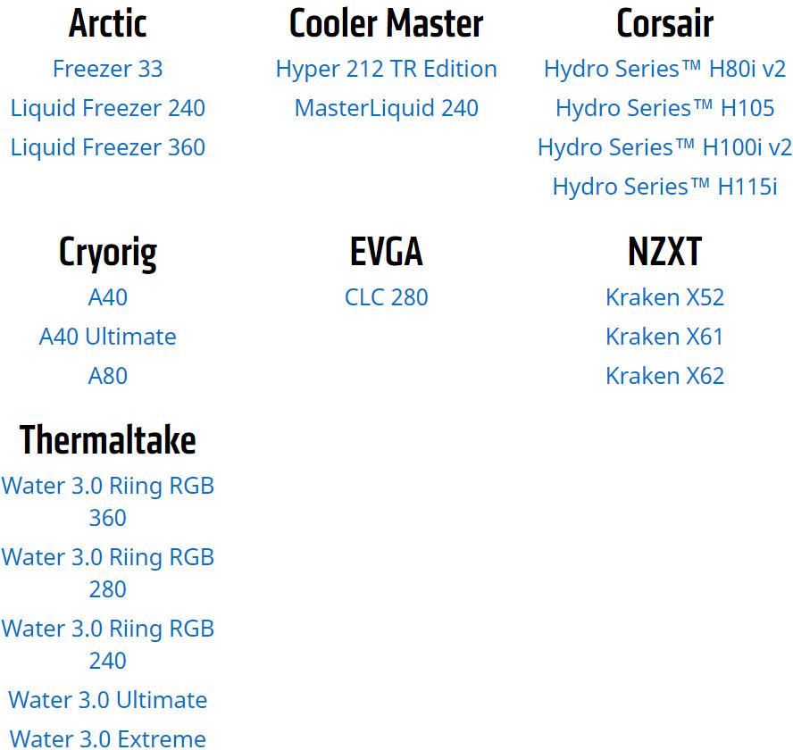 Disipadores compatibles conRyzen Threadripper y EPYC