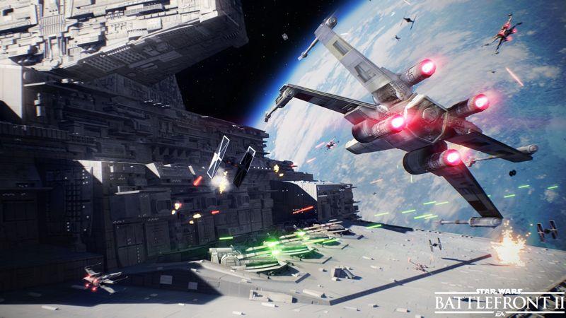 Star Wars Battlefront II muestra un nuevo trailer de batalla espacial