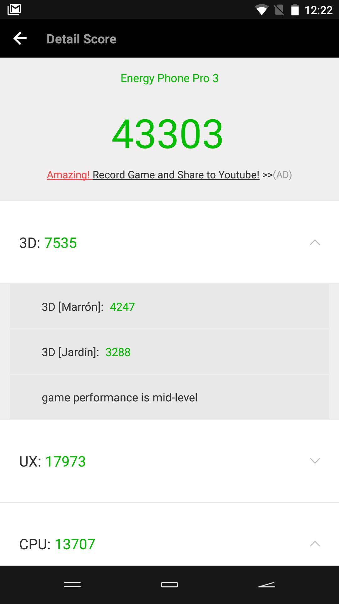 Energy Phone Pro 3 Antutu