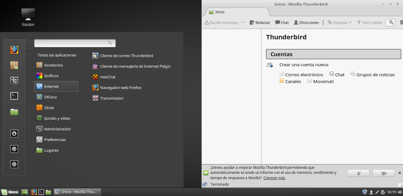 instalar thunderbird en ubuntu linux