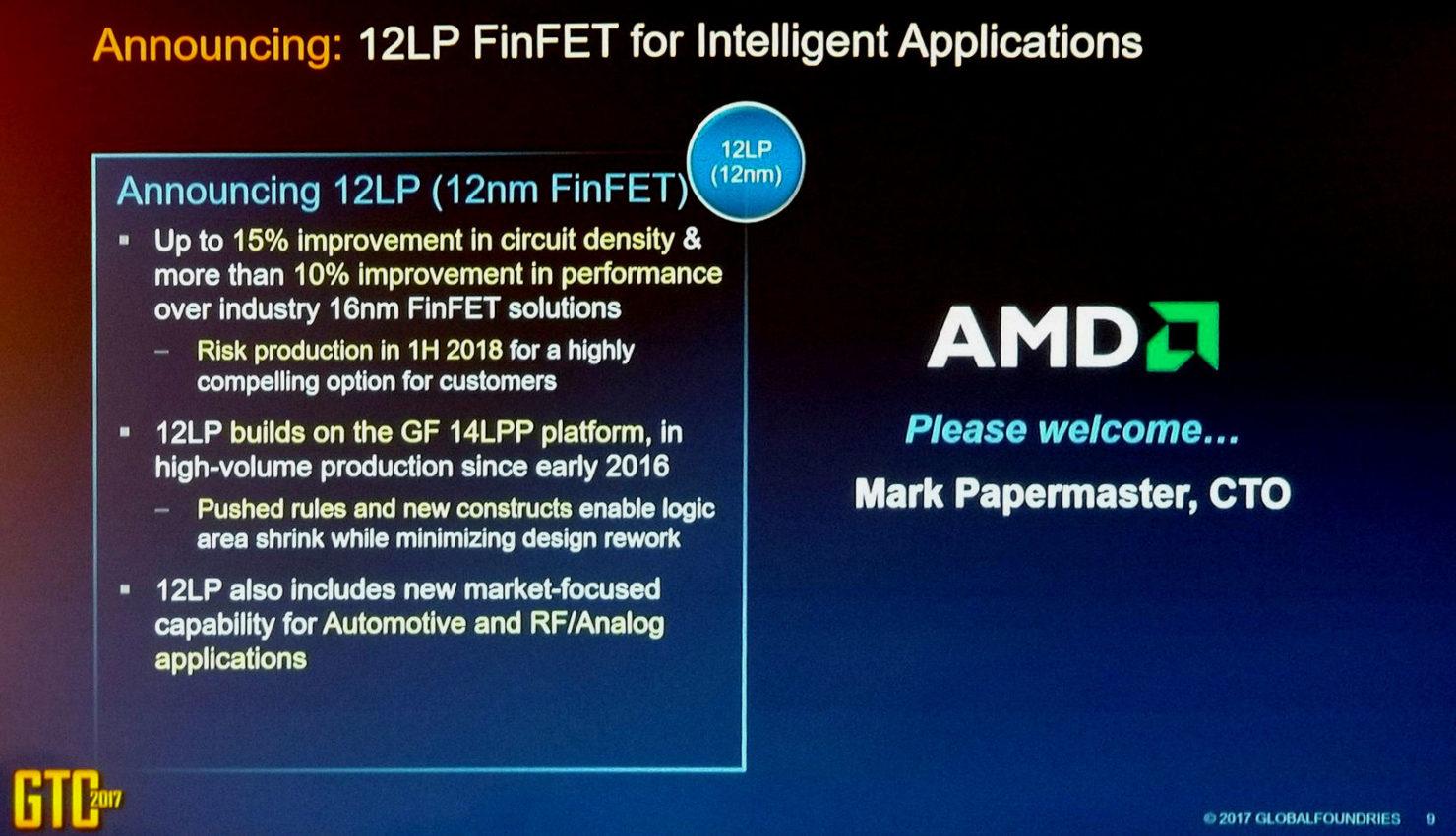 AMD Ryzen y Vega se fabricarán en 12 nm LP