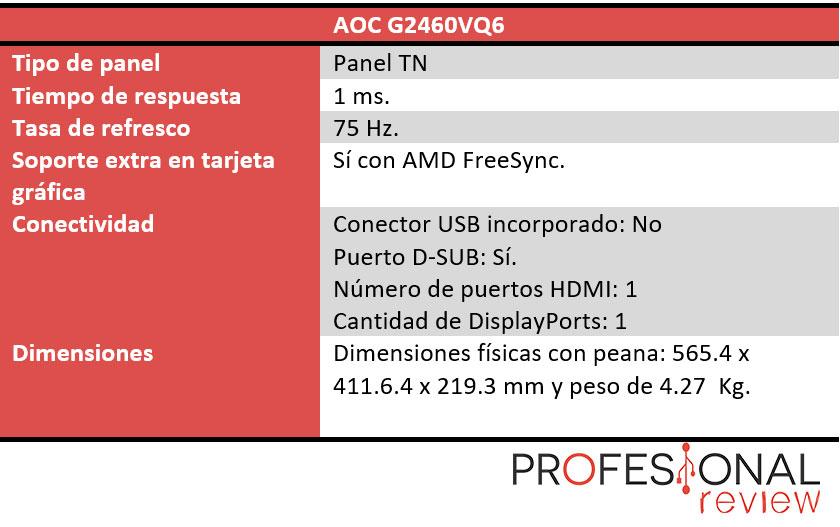 AOC G2460VQ6 caracteristicas
