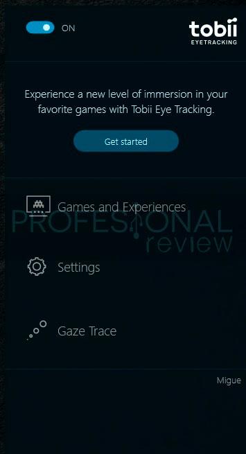 Acer Predator Z301CT tobii