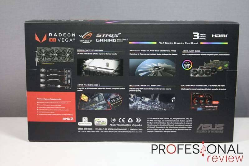 Asus RX VEGA 64 Strix Gaming