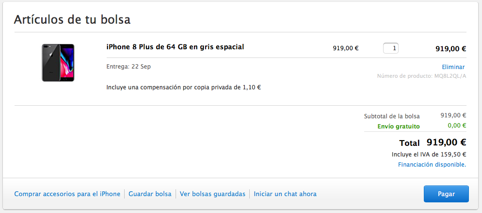 Comprar el iPhone 8 de Apple