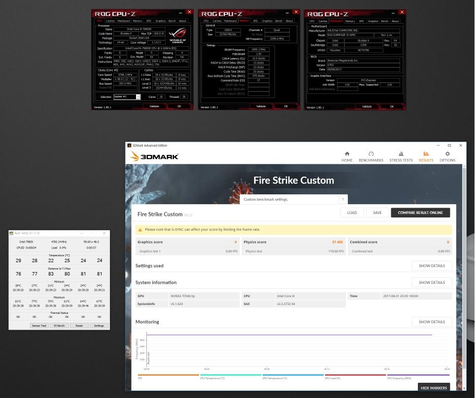 IntelCore i9-7980XE se pasa por FireStrike
