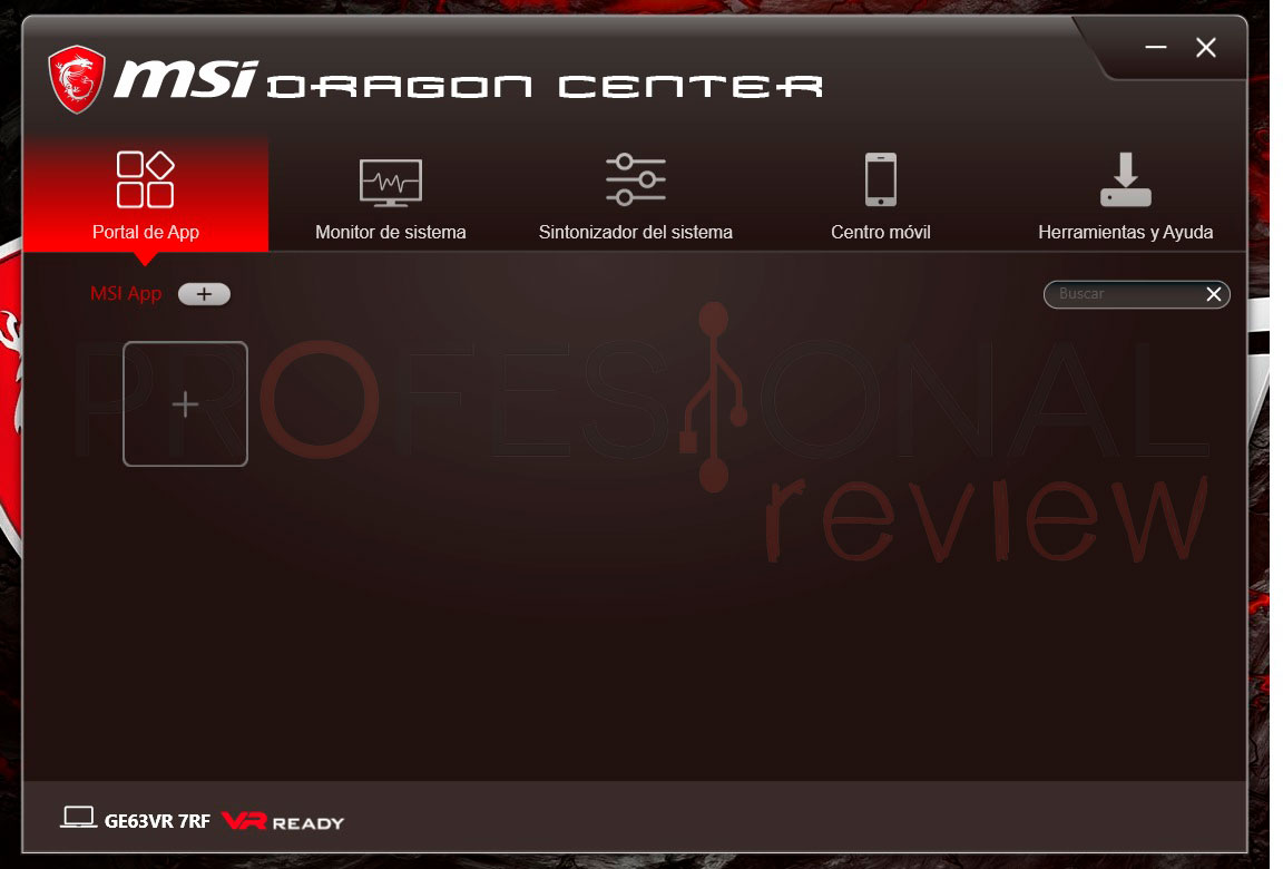 MSI G63VR Raider software