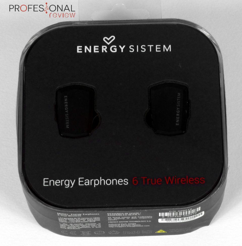 8ffb2b245e3 Los Energy Sistem Energy Earphones 6 True Wireless se presentan dentro de  un estuche de plástico de color negro, la parte superior está formada por  una ...