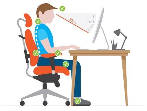 Postura correcta en una silla
