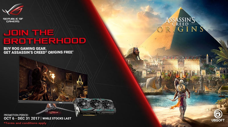 Assassin's Creed Origins gratis con Asus ROG
