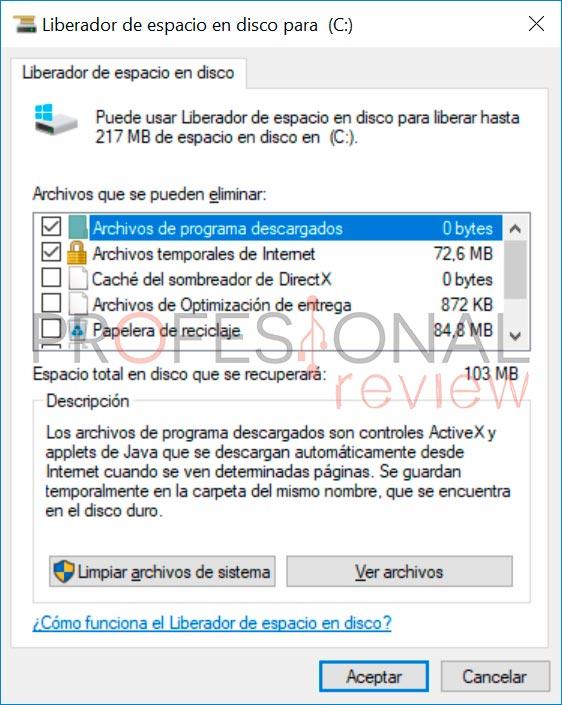 Cómo liberar hasta 30 GB de espacio tras actualizar a Windows 10