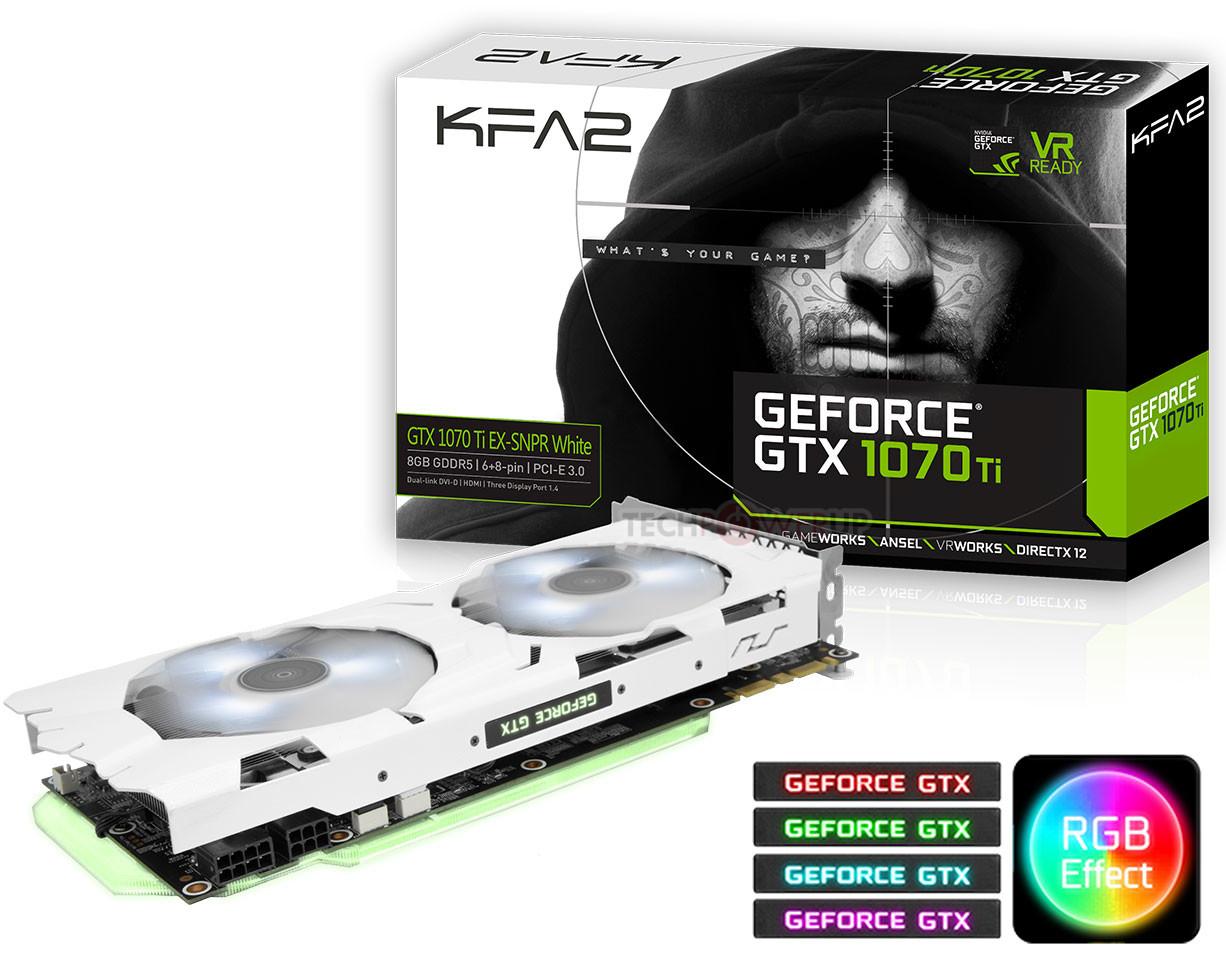 KFA2 GeForce GTX 1070 Ti EX-SNPR White