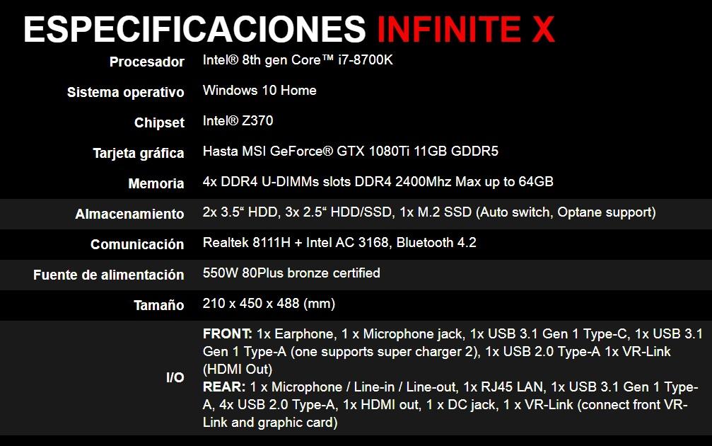 MSI Infinite X