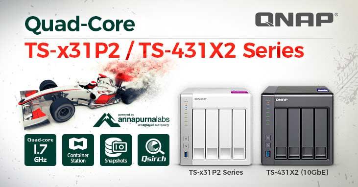 NAS TS-x31P2 y TS-431X2