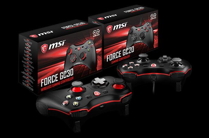 Nuevos mandos de juegoMSI Force GC30 y Force GC20