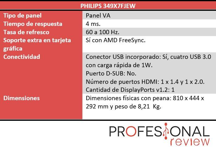 Philips 349X7FJEW características