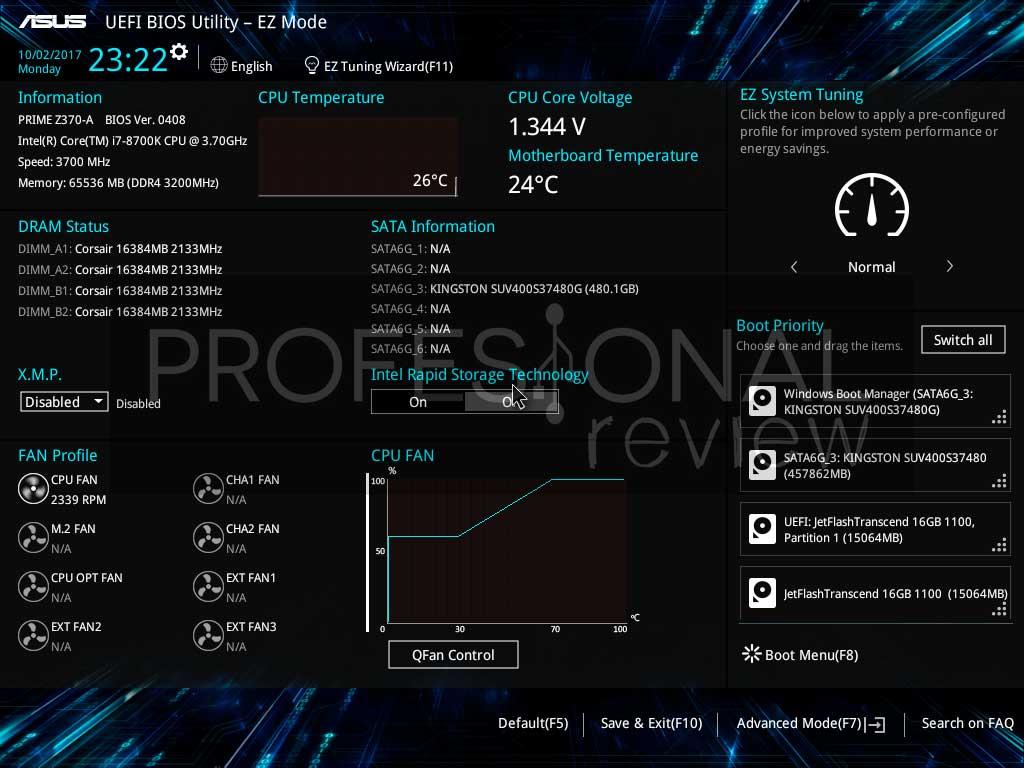 Asus Prime Z370-A BIOS