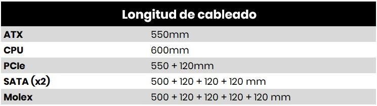 Cooler Master Masterwatt 650W cables