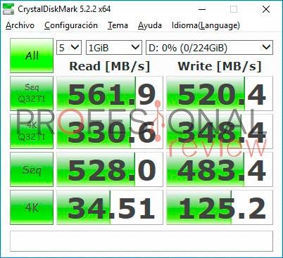 Crucial BX300 CrystalDiskMark