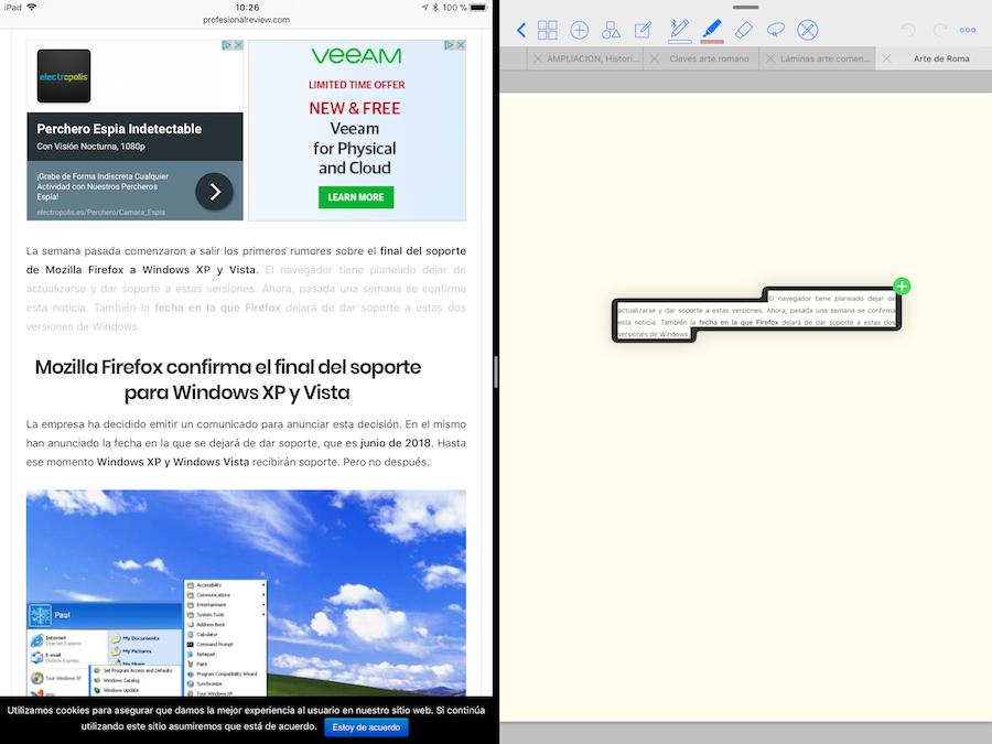Arrastrar y soltar en el iPad con iOS 11