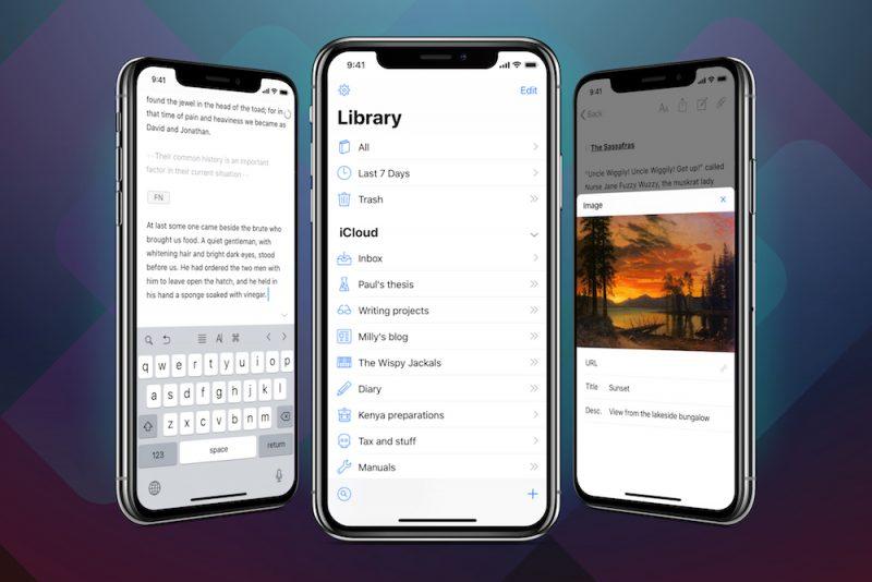 Ulysses se rediseña para el iPhone X y agrega soporte para Face ID