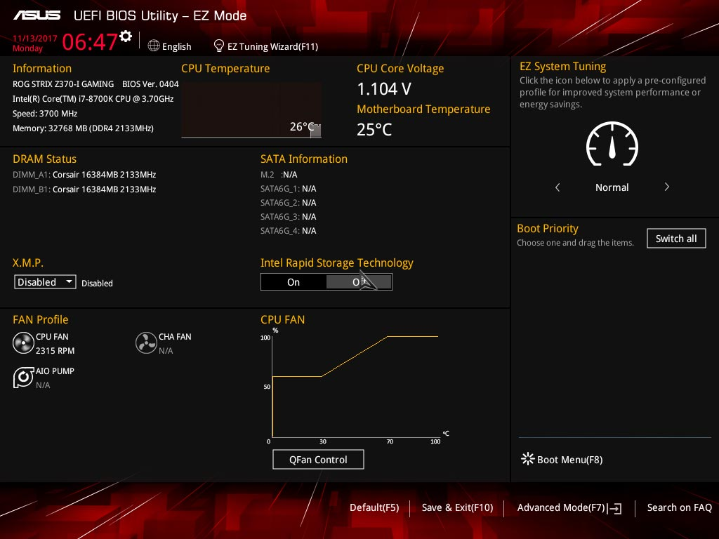 Asus ROG Strix Z370-i Gaming BIOS