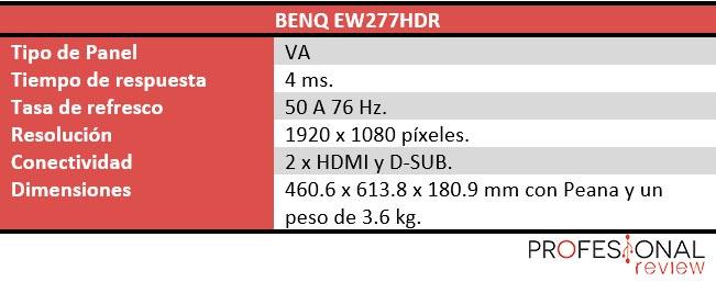 BenQ EW277HDR características