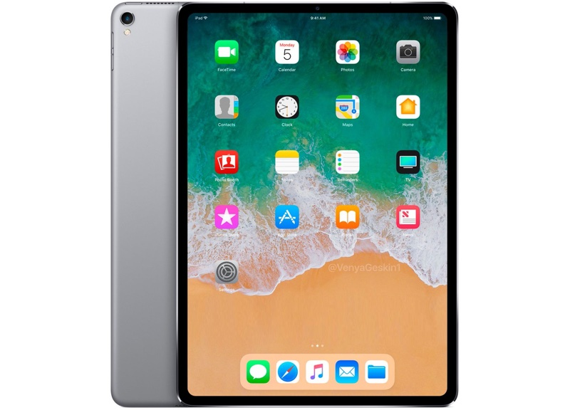 Render del posible nuevo iPad