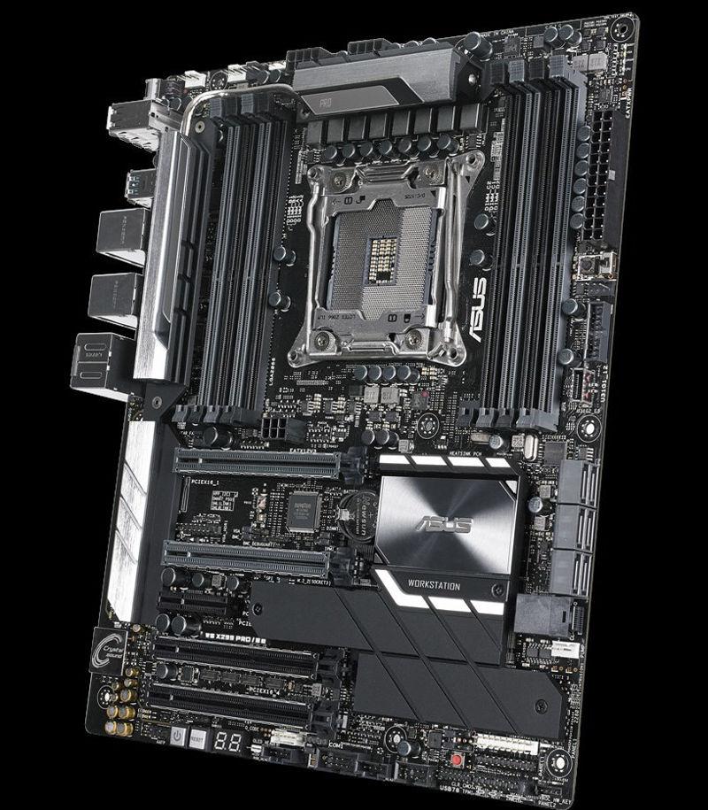 Nueva placa Asus WS X299 Pro SE para la gestión remota