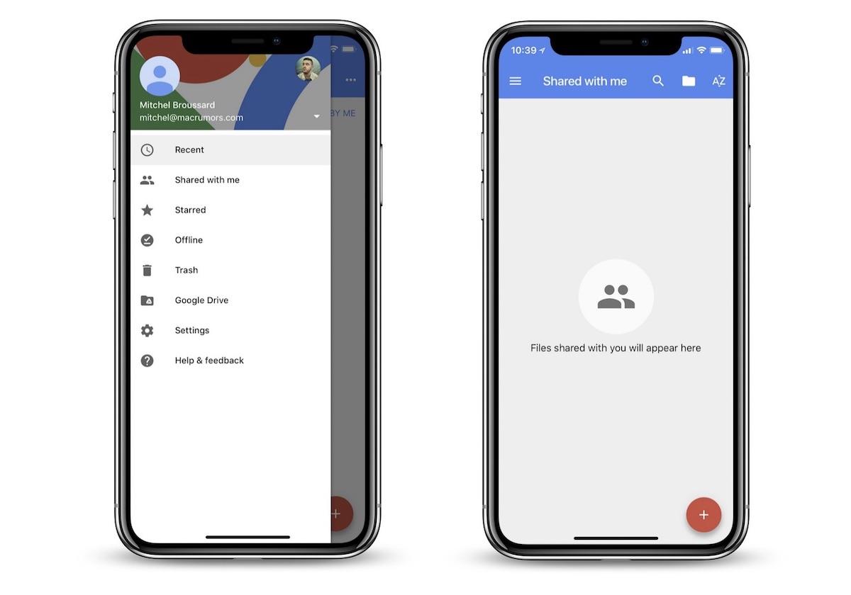 La suite ofimática de Google se actualiza al diseño del iPhone X