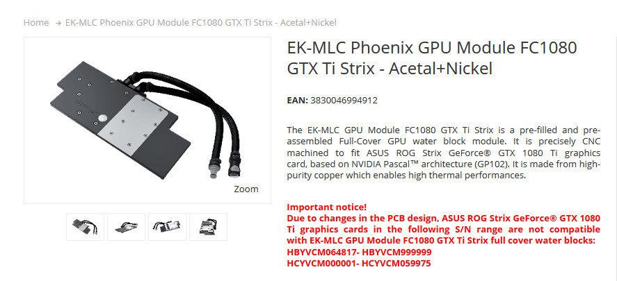 Asus revisa el PCB de la ROG Strix GTX 1080 Ti
