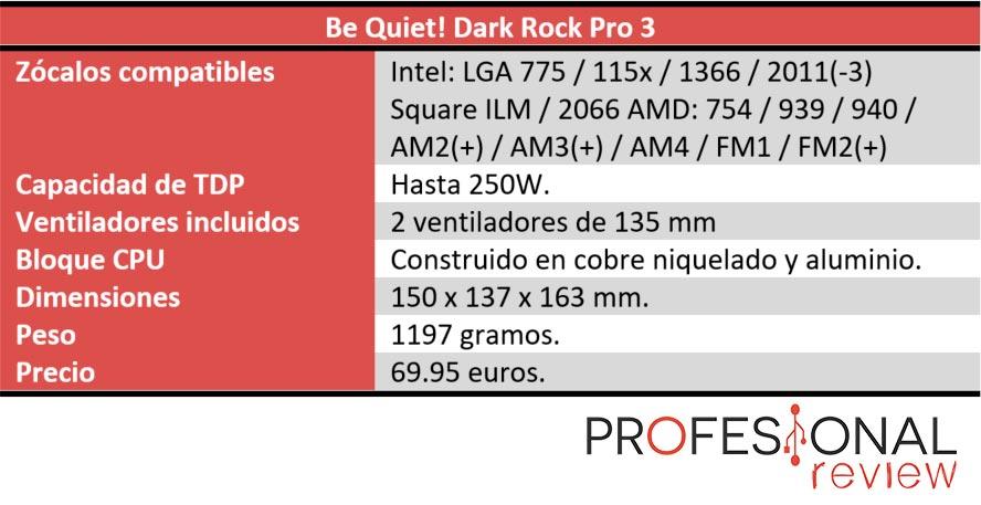 Be Quiet! Dark Rock Pro 3 características
