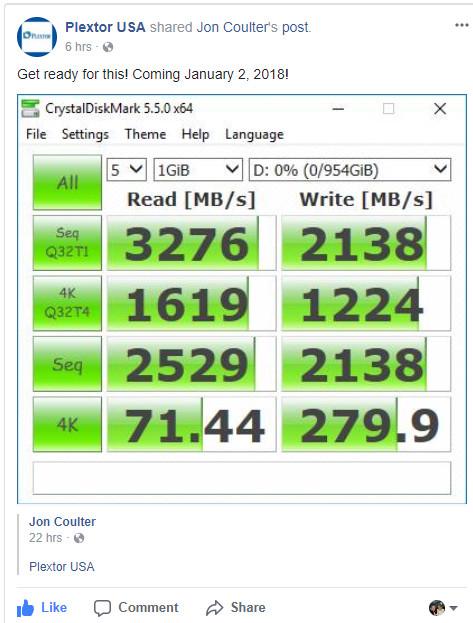 El nuevo SSD Plextor M9Pe apunta muy alto