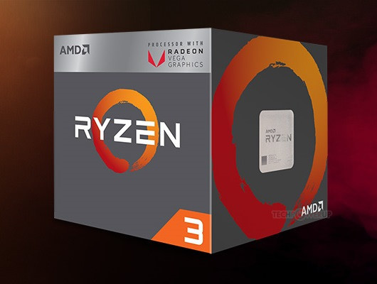 cajas AMD Ryzen 3 2200G y Ryzen 5 2400G