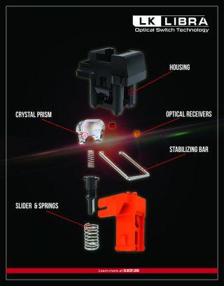 Bloody LK Libra, switches opticos