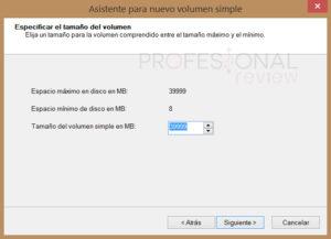 crear una nueva partición en Windows