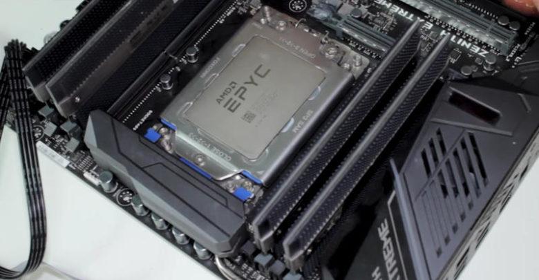 Photo of Der8auer hace funcionar un procesador EPYC en una placa base X399