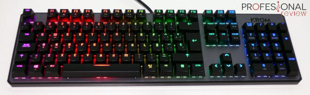 teclado Krom kernel ofertas gaming san valentín