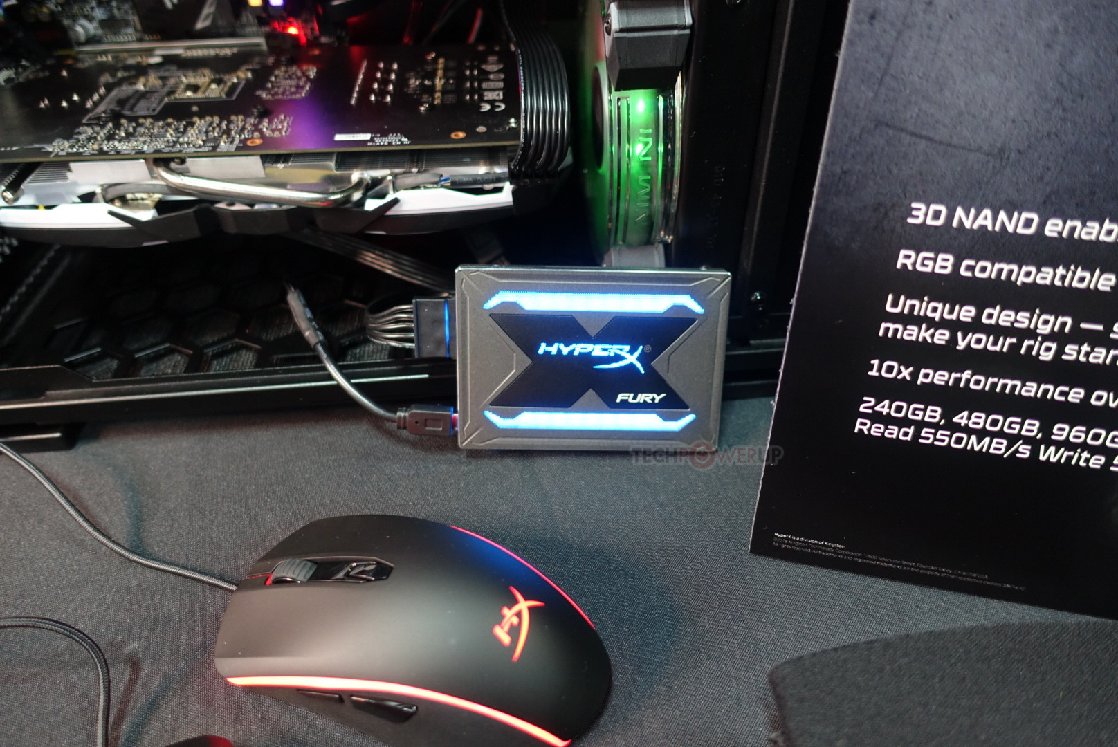 Kingston HyperX Fury RGB, un SSD con luces incluidas