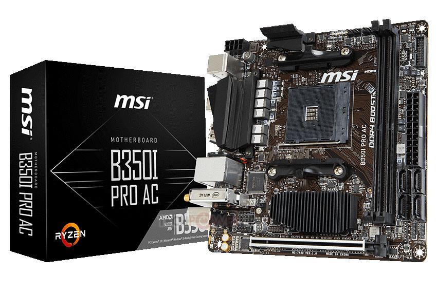 MSI B350I Pro AC une Mini ITX y AMD Ryzen